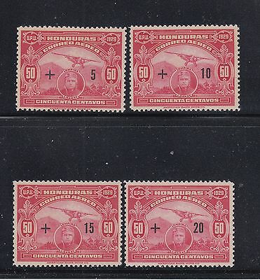 Honduras 1929 Air Semi-postals Sc CB1-CB4   Mint Never Hinged