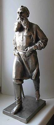 Russian Soviet USSR bust Metal Writer Leo Tolstoy Lev statue sculpture 31cm=12""
