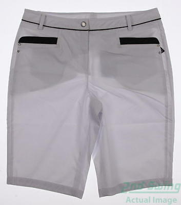 New Womens Nivo Sport Golf Shorts Size 10 White