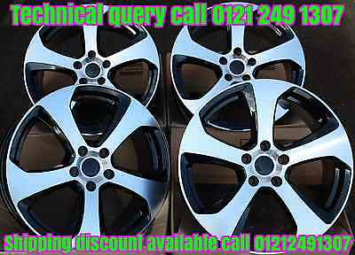 "17"" Alloy Wheels Fits Vw Caddy Cc Eos Golf Passat Scirocco Touran T4 Gti8 Bmf"
