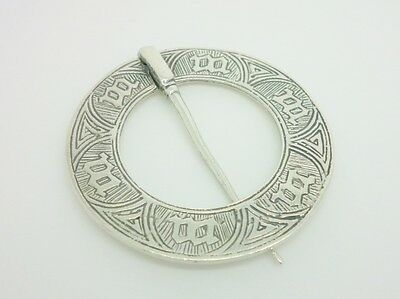 Alexander Ritchie Iona Celtic 1936 Sterling Silver Pennanular Marriage Brooch