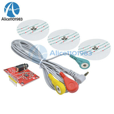 Single Lead AD8232 Double Poles Pulse Heart Rate Monitor ECG Sensor Module Kit