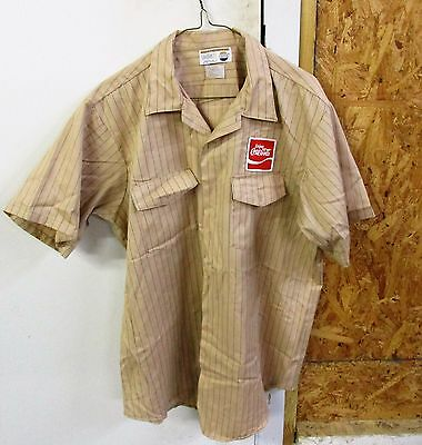 Vintage New Old Stock X- Large Coca-Cola Uniform Short Sleeve Shirt