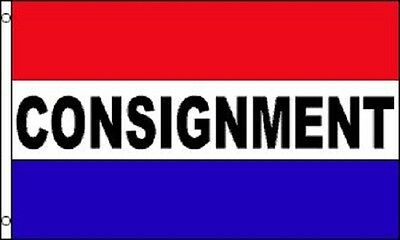 CONSIGNMENT Flag Store Advertising Banner Business Pennant Sign 3x5