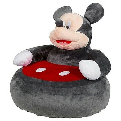 Disney Baby Mickey Mouse Critter Chair Baby Bean Bag Soft Back Support