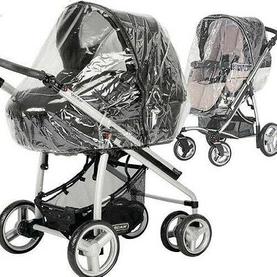 Universal Raincover Zipped To Fit Silvercross Freeway/ Combination Pushchair