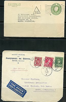Lot Of Four Covers To Palestine Or Israel Interesting Usage Mostly Fronts