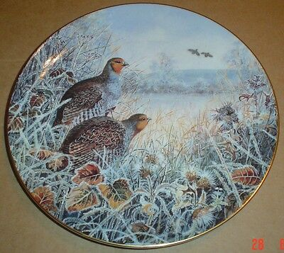 Wedgwood Collectors Plate A WINTERS FLIGHT - ENGLISH PARTRIDGE
