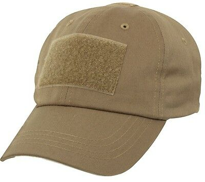 OPERATOR PMC US TACTICAL Contractor Army Mütze Cap coyote w Klett