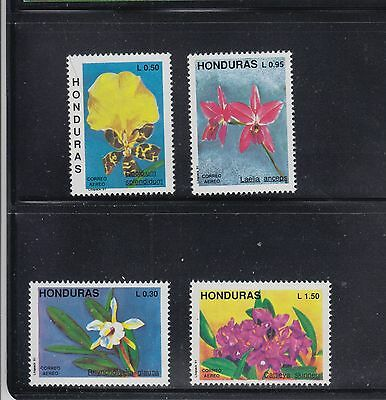 Honduras 1991 Orchids Sc C820-823 Complete  Mint Never Hinged