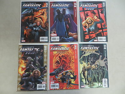 Ultimate Fantastic Four 6 Issue Comic Run Lot 21-32 Marvel Zombies