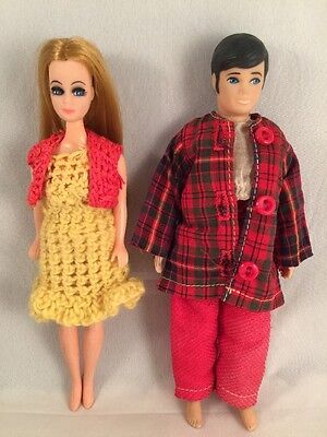 Vintage Topper Dawn & Ted Miniature Teen Fashion Dolls Knit Outfit