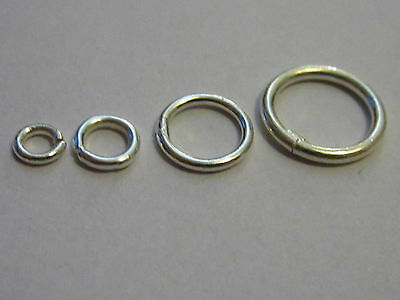 8 Anellini In Argento 925  Sterling Saldati  Made In Italy  Da 4 Mm