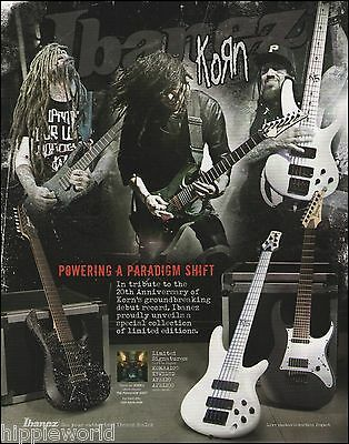 Korn Munky Head Limited Edition Signature Ibanez guitar ad 8 x 11 advertisement
