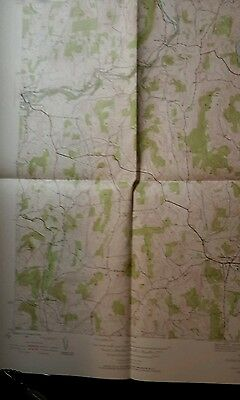 1944 Cambridge NY topographic Map hikers helper Hedges Lake
