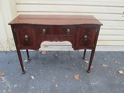 56569   STRONGBOW Furniture  Banded Mahogany Buffet Server Sideboard