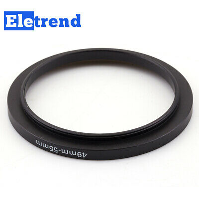 49mm to 55mm 49 to 55 Metal Male-Famale Step Up Lens Filter Ring Adapter Black