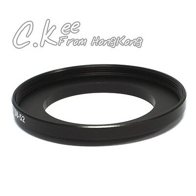 38mm to 52mm 38-52mm Male-Famale Step-Up Lens Filter Hood Cover Ring Adapter