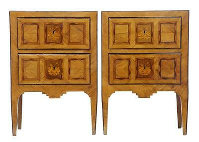 Fine Pair Of Early 19Th Century Maltese Inlaid Chest Of Drawers