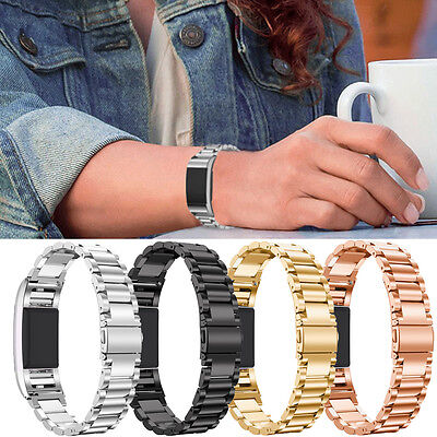 For Fitbit Charge 2!Luxury Stainless Steel Bracelet Wrist Band Bangle Strap Hot