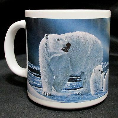 Polar Bear Cubs Arctic Circle Enterprises Coffee Cup Mug 12 Ounce