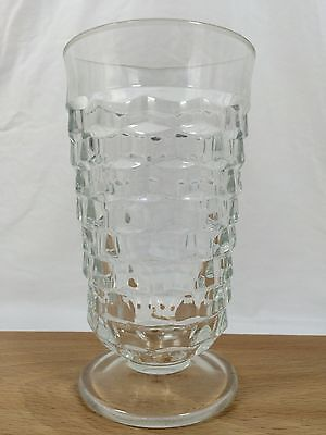 "American Fostoria Whitehall Colony Clear Cube Ice Tea Glass 6"" Footed 13 oz"