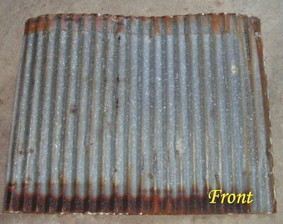 """Vintage Metal CORRUGATED TIN metal apprx 26"""" x 21"""" reclaimed ceiling roof sheet"""
