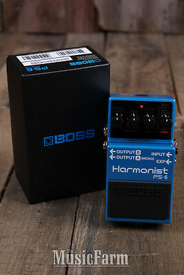 Boss PS-6 Harmonist Pitch Shifter Electric Guitar Pedal w Four Effect Modes PS6