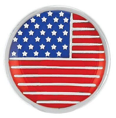 Buy 4, Get 5Th $6.95 Snap Free Ginger Snaps™ Jewelry Enamel Usa Flag Sn04-30
