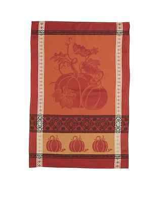 Pumpkin and Vine Jacquard Fall Kitchen Towel by Kay Dee Designs