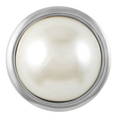 BUY 4, GET 5TH $6.95 SNAP FREE GINGER SNAPS™ Jewelry GRAND WHITE PEARL  SN31-21