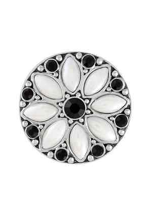 GINGER SNAPS™ LUNA WHITE BLACK Jewelry - BUY 4, GET 5TH $6.95 SNAP FREE