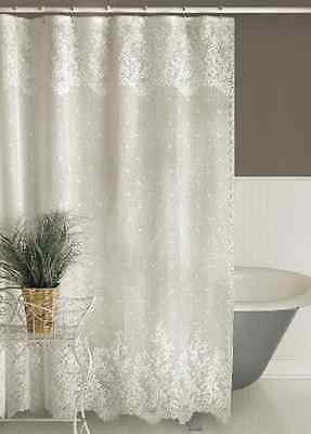 Heritage Lace FLORET Shower Curtain - 2 Colors - Select Ecru or White