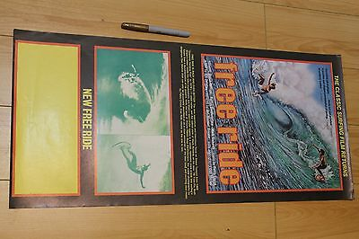 FREE RIDE - Shaun Tomson Mark Richards 12x27in. O.G. 1977 Surfing Film Poster