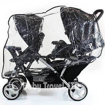 Universal Graco Stadium Duo Tandem Double Raincover Safety 1st Combi