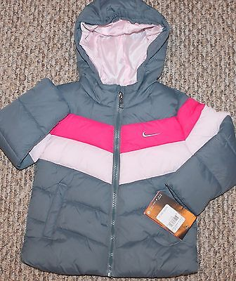 New! Girls  Nike   Winter Jacket/Coat (Pinks and Gray, Fleece lined) - Size 2T