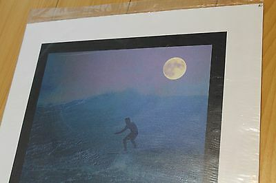 Fred Hemmings - AUTOGRAPHED Vintage Canvas Art Hawaii 14x17in. Surfing Poster