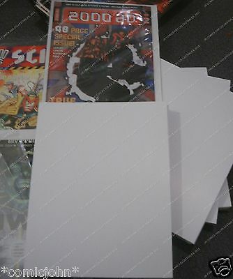 100 x NEW SIZE 2000 AD COMIC BACKING BOARDS  - SIZE H.
