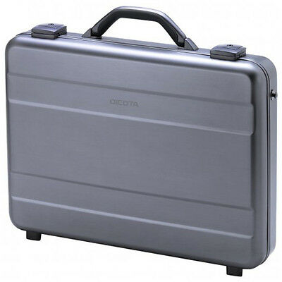 New Genuine Dicota 15-17.3 Inch Notebook Alu Carrying Case - Grey
