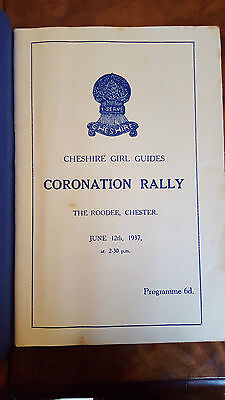Cheshire Girl Guides Coronation Rally The Roodee Chester, June 12th 1937
