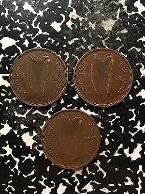 1928 Ireland 1/2 Penny (3 Available!) Circulated (1 Coin Only!)