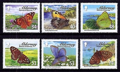 Alderney 2008 Butterflies very fine fresh MNH set