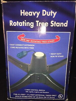 rotating CHRISTMAS TREE STAND See All Ornaments for Artificial 7.5 ft and under