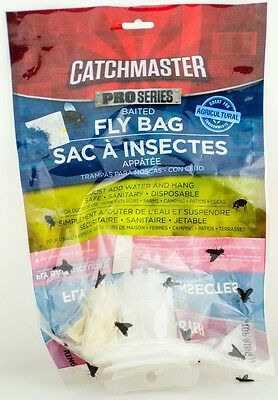 Catchmaster Disposable Fly Bag Trap House Flies No Chemical Insecticides New