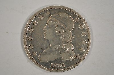 United States 1835 Capped Bust Silver Quarter 25c VF Details Cleaned