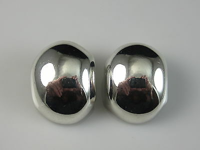 DULCE 925 Mexico Sterling Silver Earrings Clip On Estate Signed