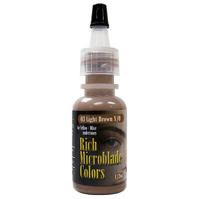 Rich Microblade Colors Light Brown Permanent Makeup 3D Eyebrow Tattoo Pigment