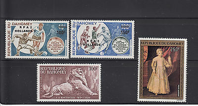 Dahomey 1974 Issues Sc C219-20, C233-234  complete Mint Never Hinged