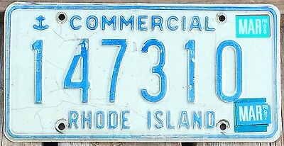 Rhode Island 1989 - 1998 COMMERCIAL TRUCK License Plate 147310!