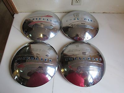 """Set of Original BLC MADE IN USA 1941-1946 Chevy Truck Dog Dish Hubcaps 10"""""""